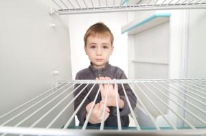 Boy and Empty Refrigerator
